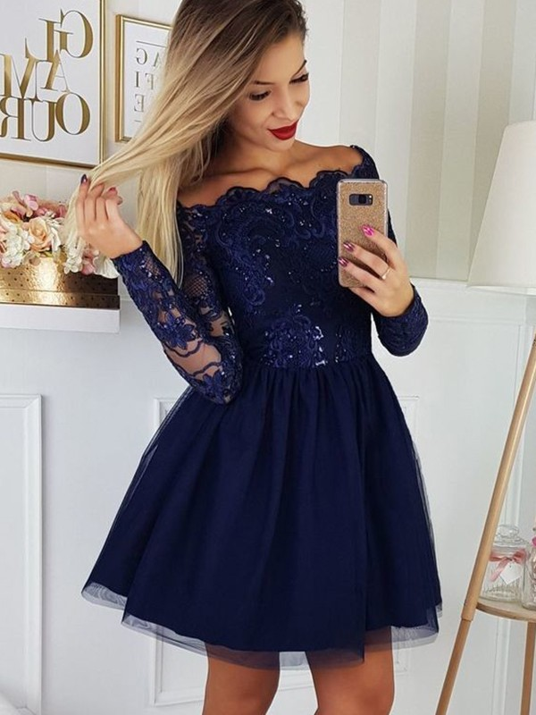 long sleeve short long sleeve winter formal dresses