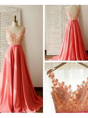 A-Line/Princess Sweetheart Chiffon Sweep/Brush Train Sleeveless Bridesmaid Dresses
