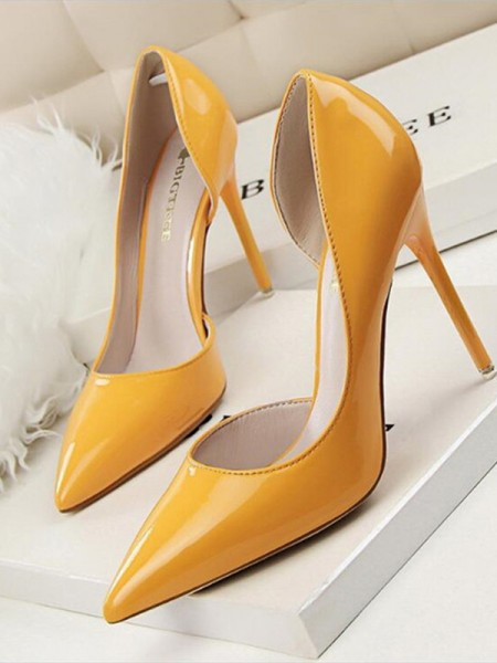 Stiletto Heel PU Closed Toe Women's High Heels