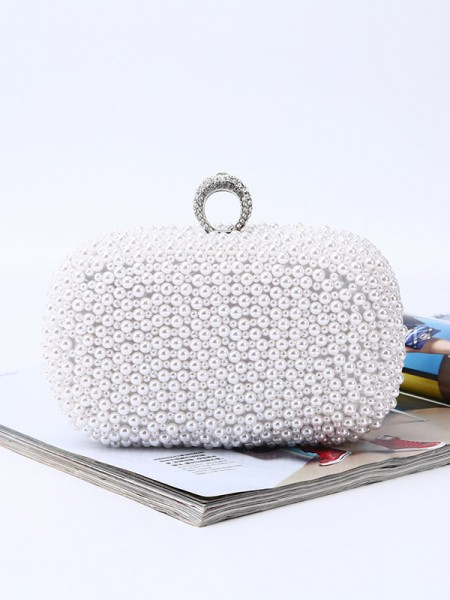 Trending Evening/Party Womens Handbags With Pearl