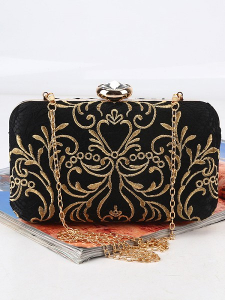 Beautiful Pattern Satin Evening/Party Womens Handbags