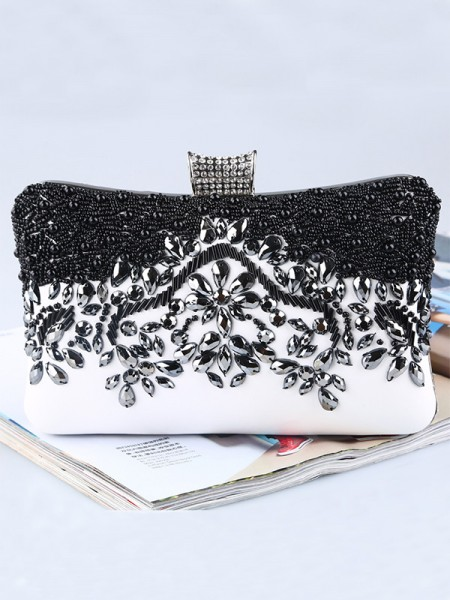 Pretty PU Beading Womens Evening/Party Handbags