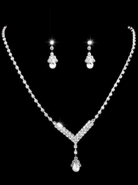 Gorgeous Rhinestone Women's Jewelry Set