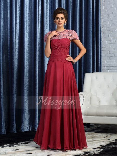 A-Line/Princess Sweetheart Chiffon Floor-Length Ruched Sleeveless Mother Of The Bride Dresses