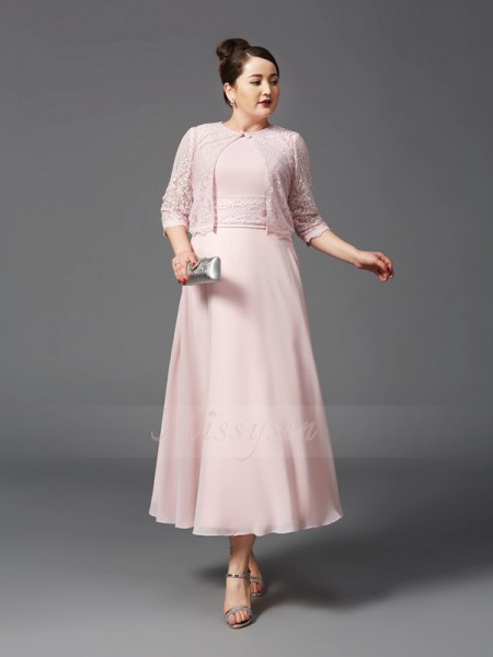 A-Line/Princess Chiffon Jewel Sleeveless Ankle-Length Mother of the Bride Dresses