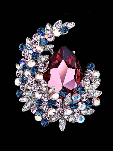 Beautiful Alloy With Crystal Womens Brooch