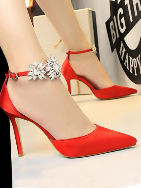 Patent Leather Stiletto Heel Closed Toe Womens High Heels
