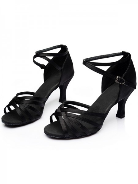 Leatherette Kitten Heel Peep Toe Womens Sandals