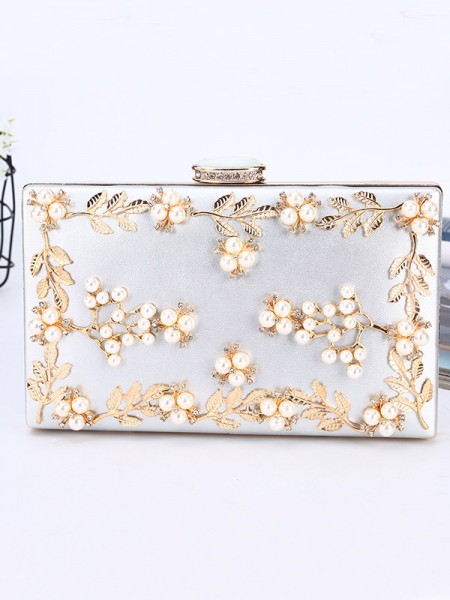 Luxurious PU Beading Wedding Evening/Party Handbags