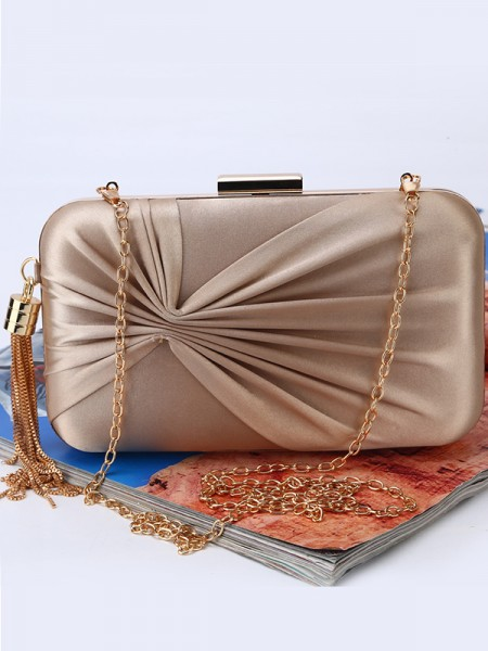 Fashion Ruched Wedding Evening Party Handbags