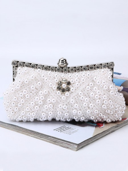 Fashion Evening/Party Womens Handbags With Pearl