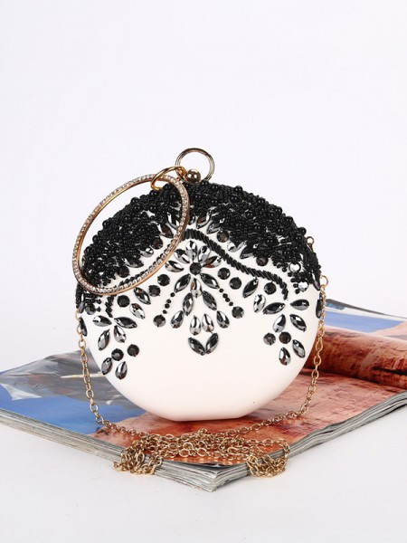 New Satin Beading Evening/Party Womens Handbags