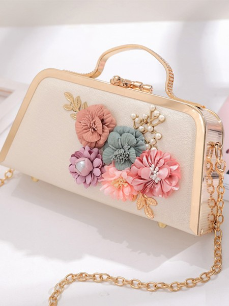 New 3D Flowers Womens Evening/Party Handbags