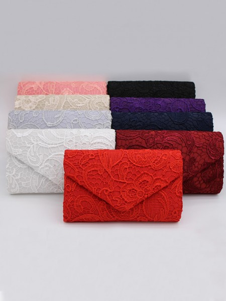 Lace Bridal Handbags 3D Flowers Evening Party Bag