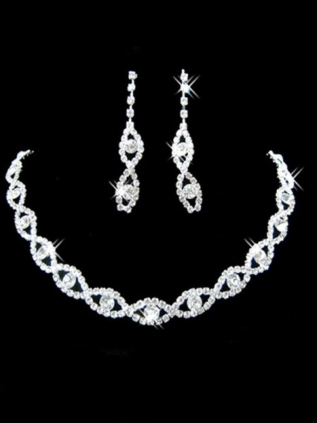 Wedding Bridal Pretty Rhinestone Jewelry Set