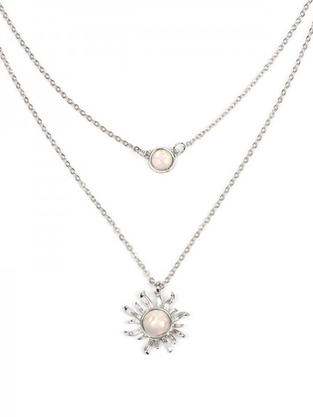 Occident Simple Women's Necklaces With Sun