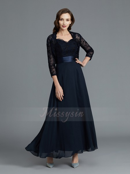 A-Line/Princess Ankle-Length Sweetheart Chiffon Sleeveless Mother of the Bride Dresses