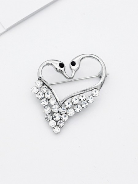 Elegant Alloy With Rhinestone Womens Brooch