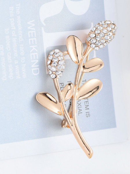 Attractive Alloy With Rhinestone Womens Brooch