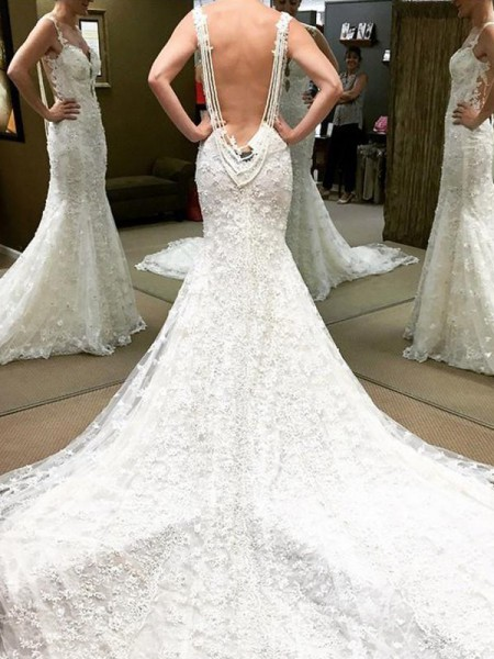 Ball Gown Off-the-Shoulder Short Sleeves Cathedral Train Lace Wedding Dresses