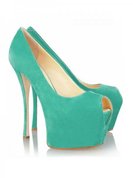Women's Stiletto Heel Peep Toe Platform High Heels